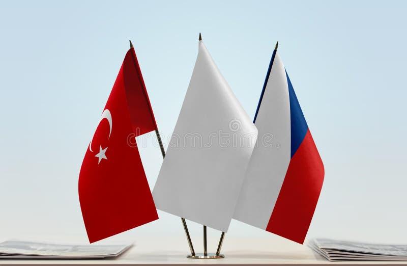 Flaga Turcja i republika czech obrazy stock