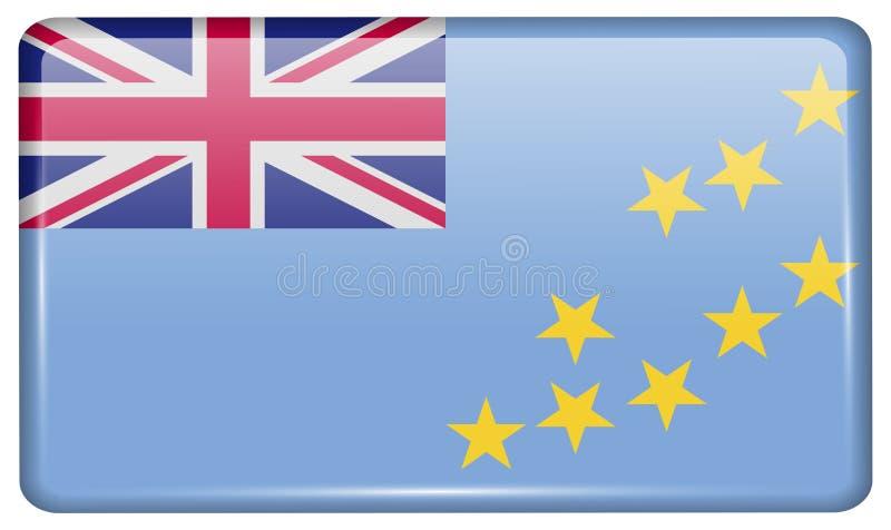 Flaga Tuvalu w postaci magnesu na chłodziarce z odbiciami zaświecają fotografia stock