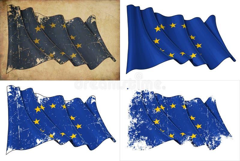 Flaga UE royalty ilustracja