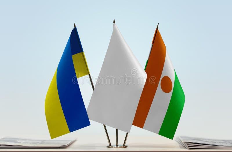 Flaga Ukraina i Niger zdjęcie stock