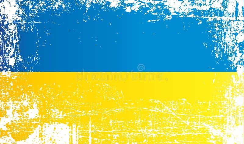 flaga Ukraine Marszczący brudni punkty royalty ilustracja