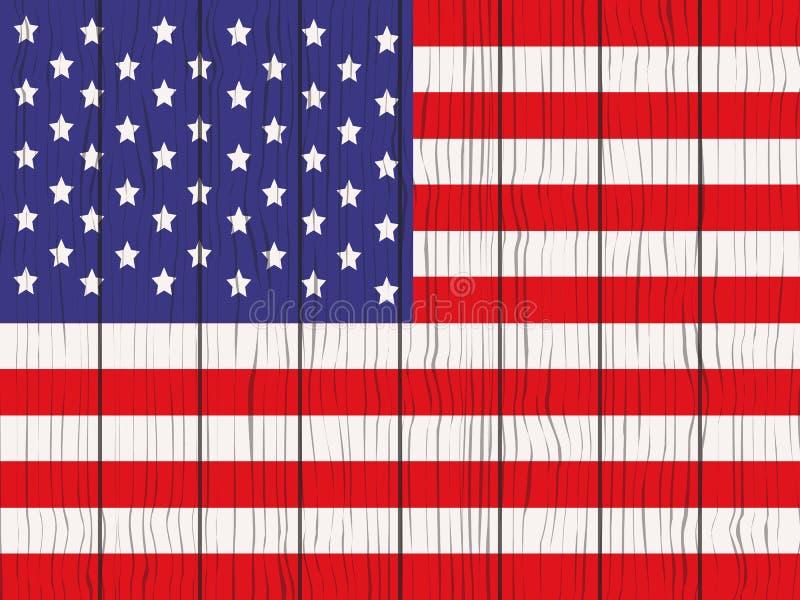 flaga usa 3 d ilustracja wektor
