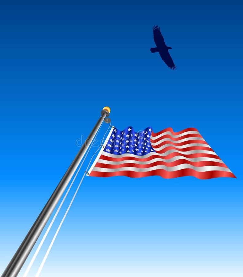 flaga usa machać orle royalty ilustracja