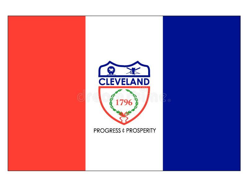 Flaga usa miasto Cleveland, Ohio ilustracji