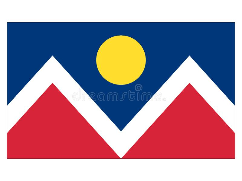 Flaga usa miasto Denver, Kolorado royalty ilustracja