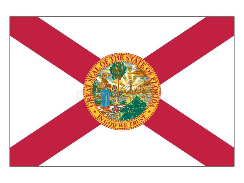 Flaga usa stan Floryda ilustracja wektor