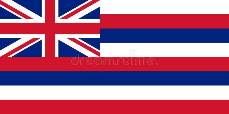 Flaga usa stan Hawaje, wektor ilustracja wektor