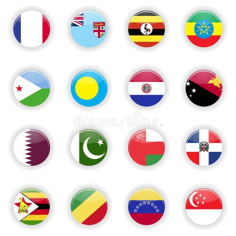 Flaga Ustawiać świat ilustracja wektor