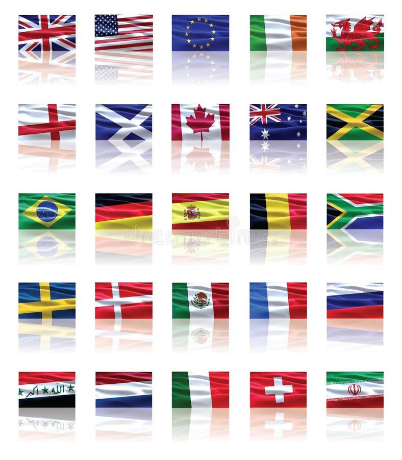 flaga ustawiać royalty ilustracja