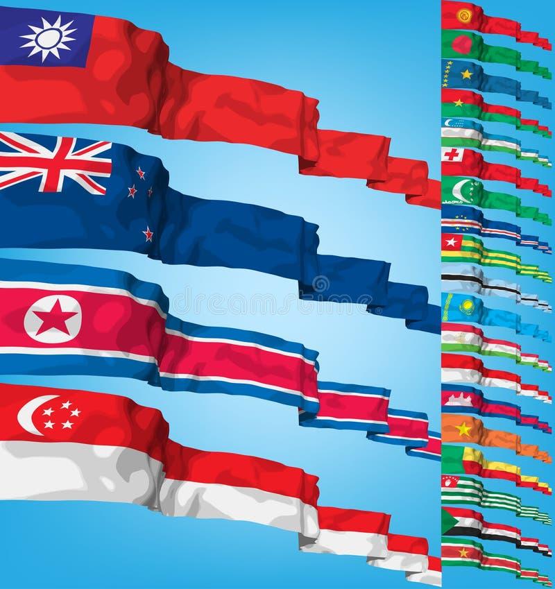 flaga ustawiają wektorowego świat ilustracji