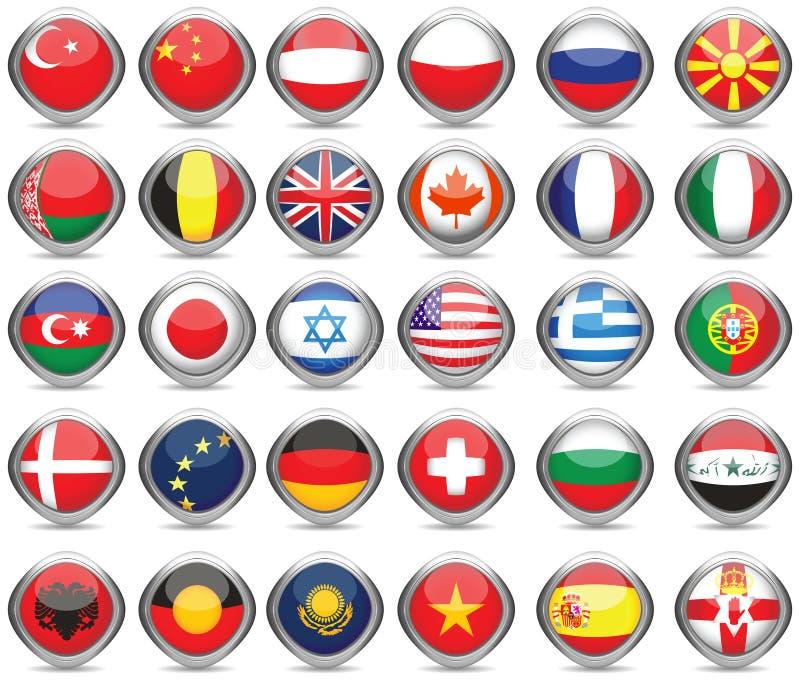 flaga ustawiający świat royalty ilustracja