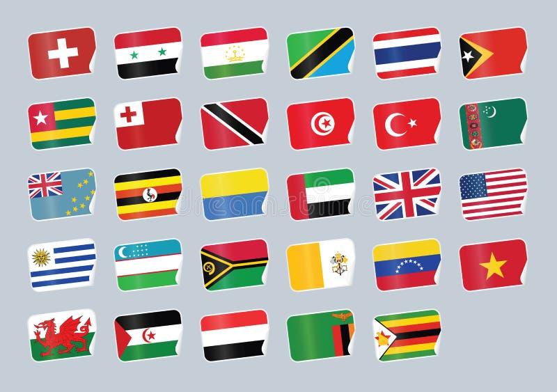 flaga ustawiający świat ilustracja wektor