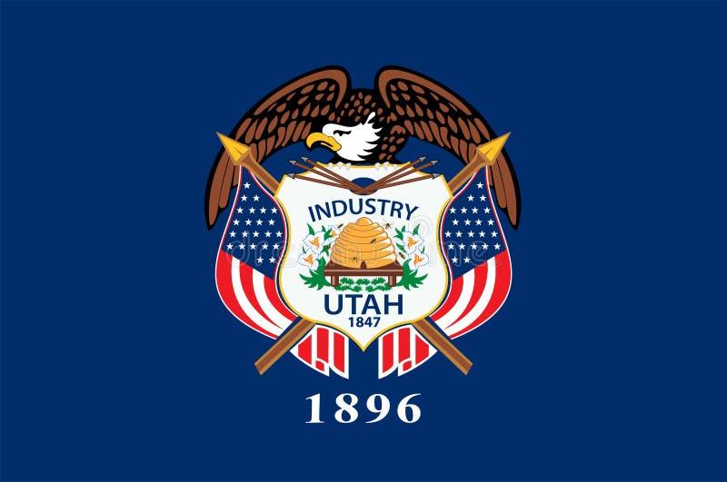 Flaga Utah, usa ilustracji