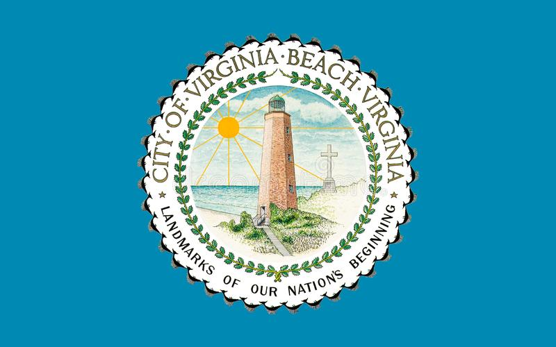 Flaga Virginia plaża w Virginia, usa zdjęcie stock