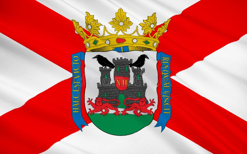 Flaga Vitoria-Gasteiz jest stolicą Baskijski Autono zdjęcia stock