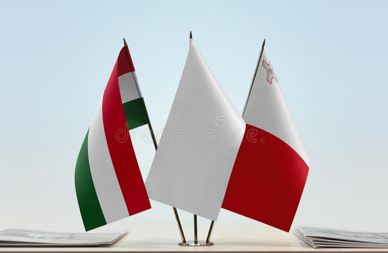 Flaga Węgry i Malta obraz stock
