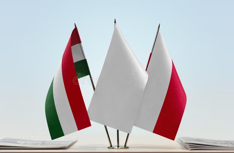 Flaga Węgry i Polska fotografia stock