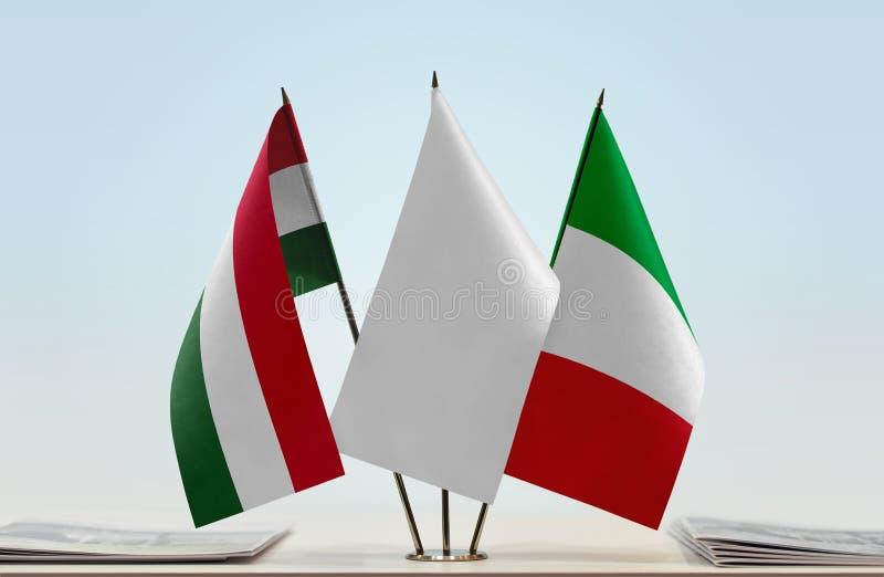 Flaga Węgry i Włochy obrazy royalty free