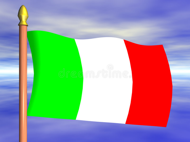 flaga Włochy royalty ilustracja
