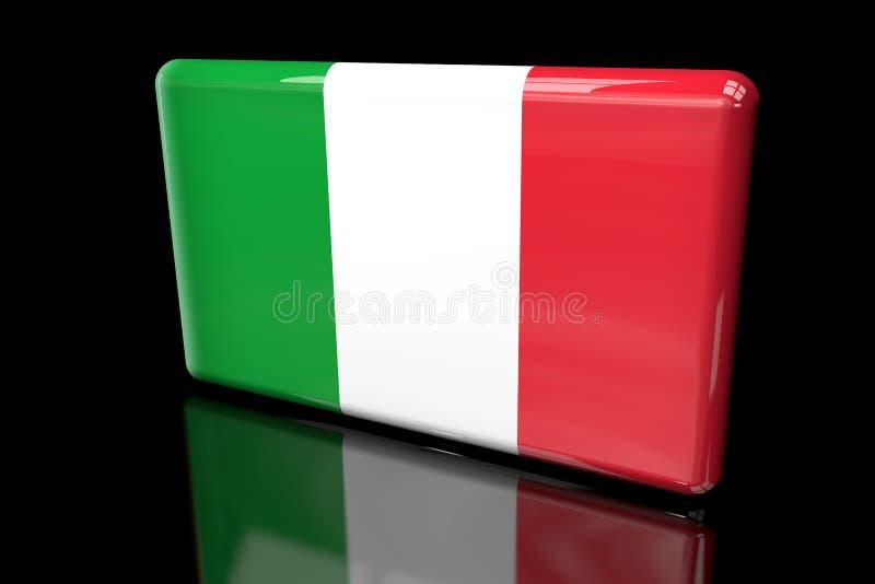 Flaga Włochy 3D wolumetryczny royalty ilustracja
