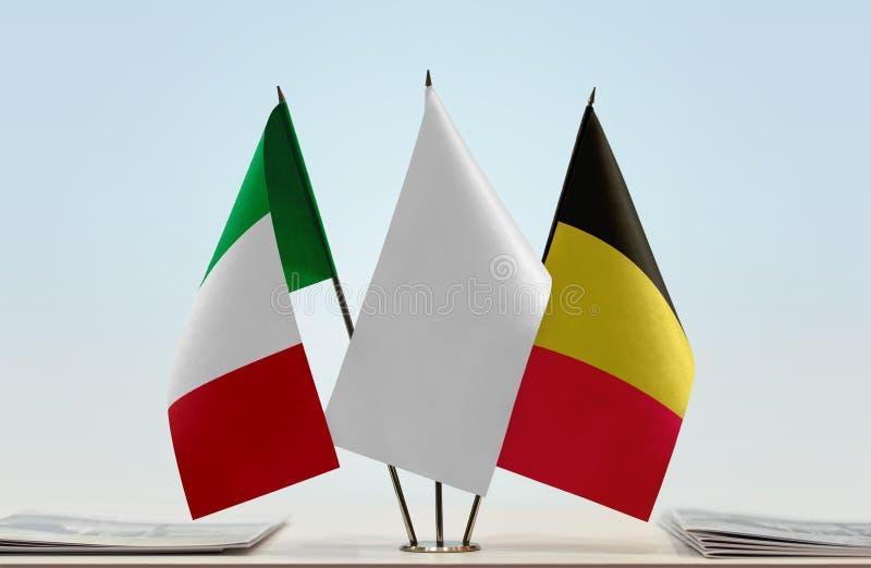 Flaga Włochy i Belgia zdjęcia royalty free