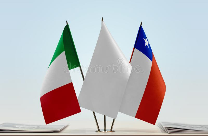 Flaga Włochy i Chile obraz stock