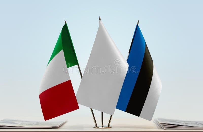 Flaga Włochy i Estonia fotografia stock