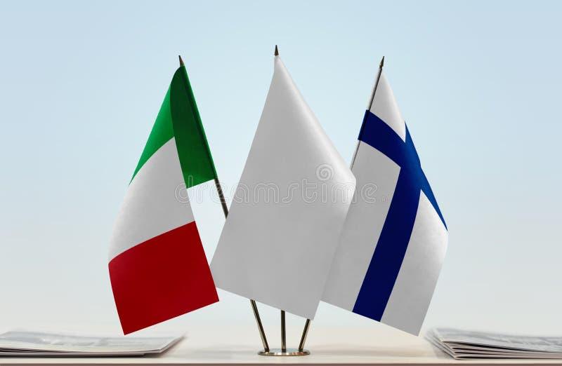 Flaga Włochy i Finlandia obrazy stock