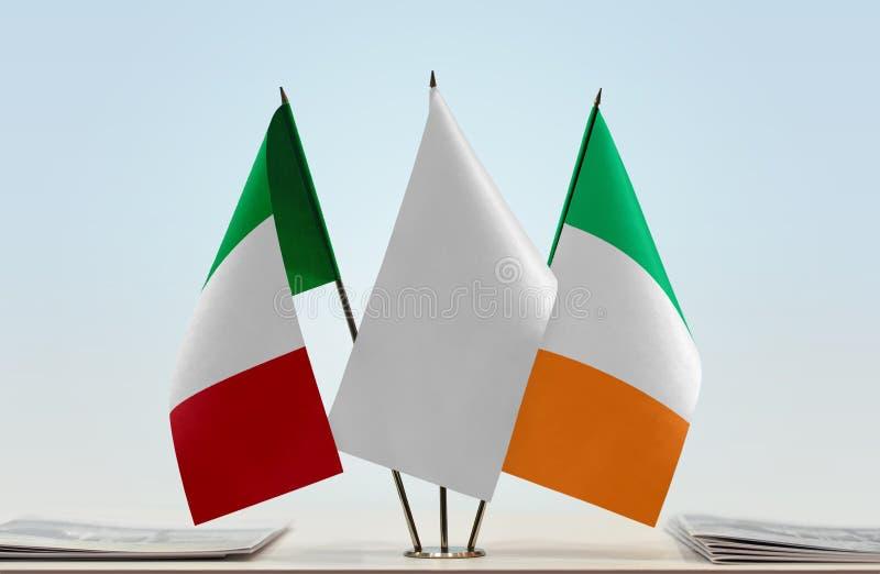 Flaga Włochy i Irlandia obrazy stock