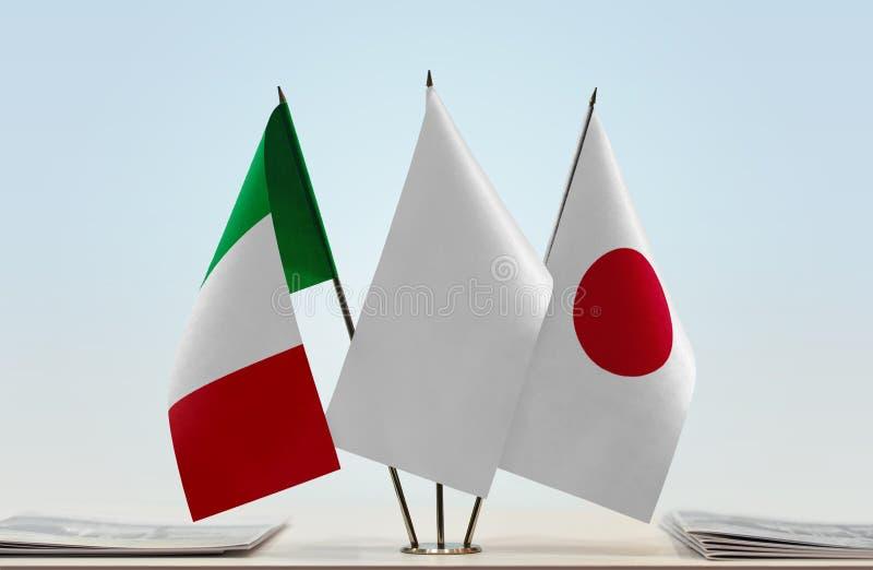 Flaga Włochy i Japonia zdjęcia stock