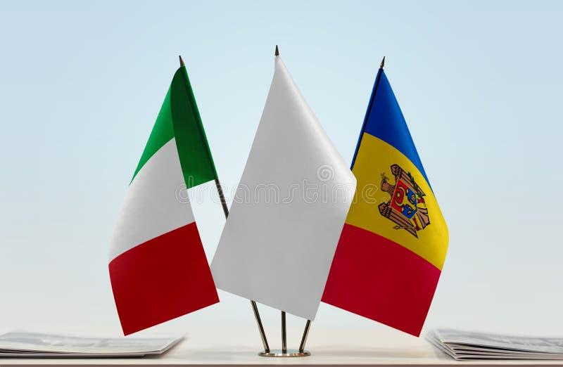 Flaga Włochy i Moldova obraz royalty free