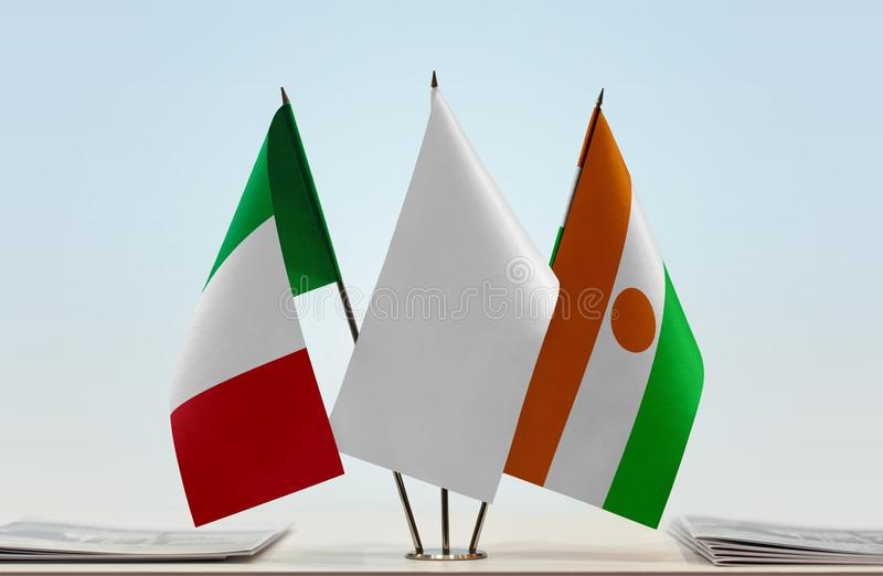 Flaga Włochy i Niger obrazy stock