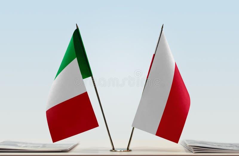 Flaga Włochy i Polska obrazy royalty free