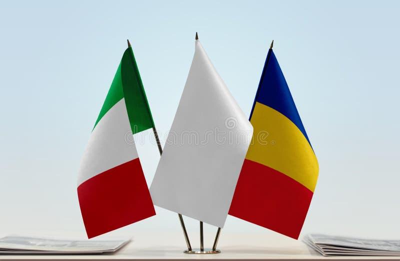 Flaga Włochy i Rumunia zdjęcie royalty free