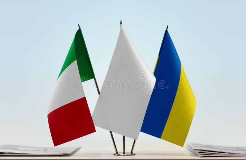 Flaga Włochy i Ukraina obrazy stock