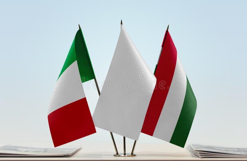 Flaga Włochy i Węgry obraz royalty free
