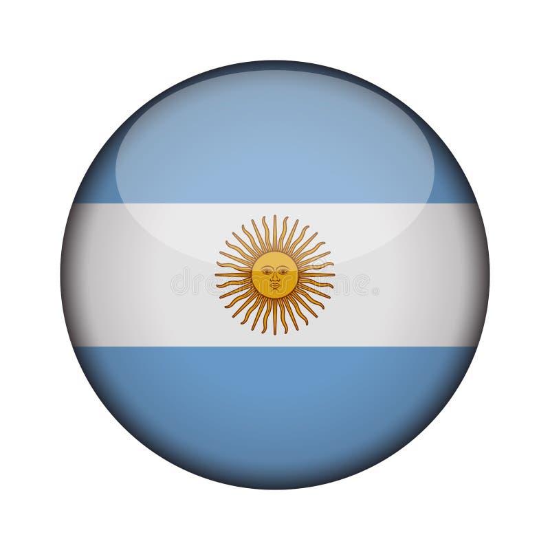 Flaga w glansowanym round guziku ikona royalty ilustracja