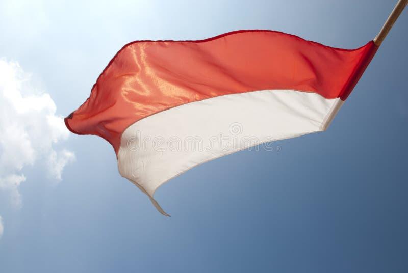 Flaga w słońcu w wiatrze zdjęcia stock
