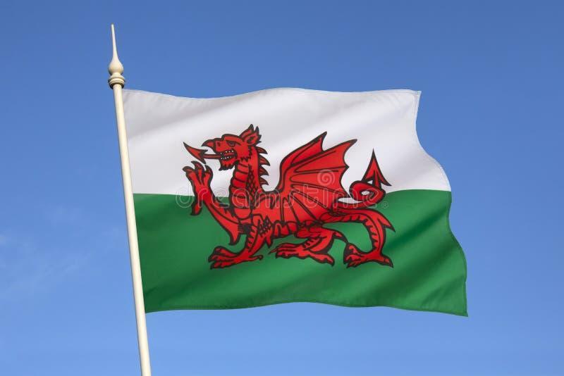 Flaga Walia, Zjednoczone Królestwo - obraz stock