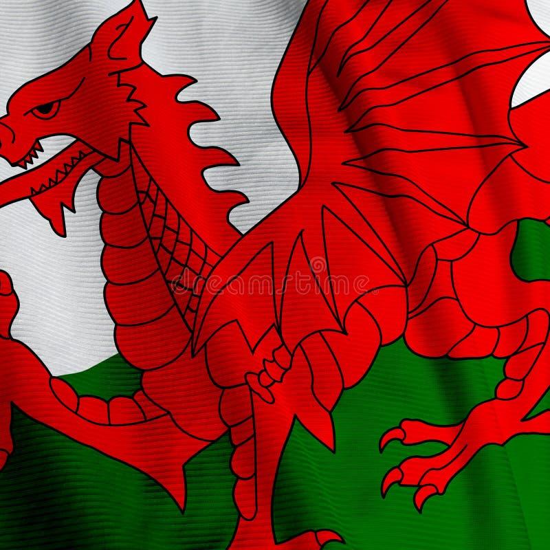 flaga Walijczyków zbliżenie zdjęcia stock