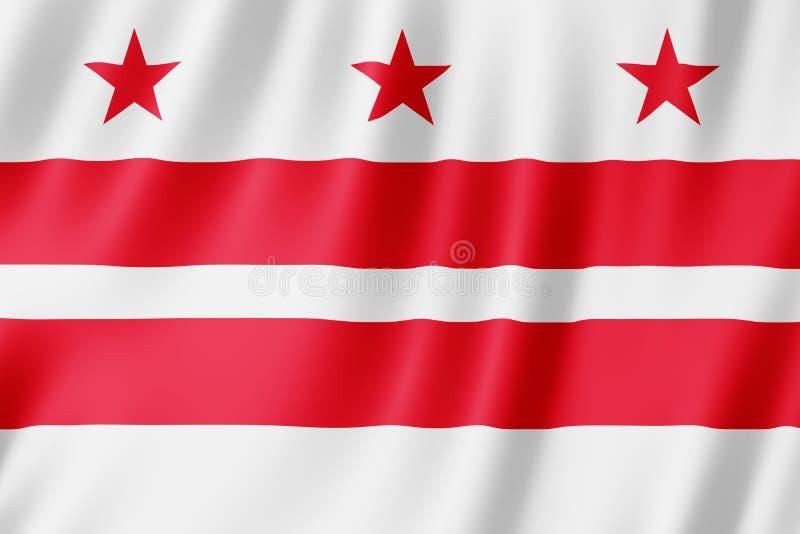 Flaga Waszyngtoński miasto, d C USA ilustracji
