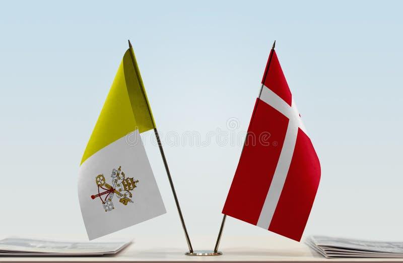 Flaga watykan i Dani obraz royalty free