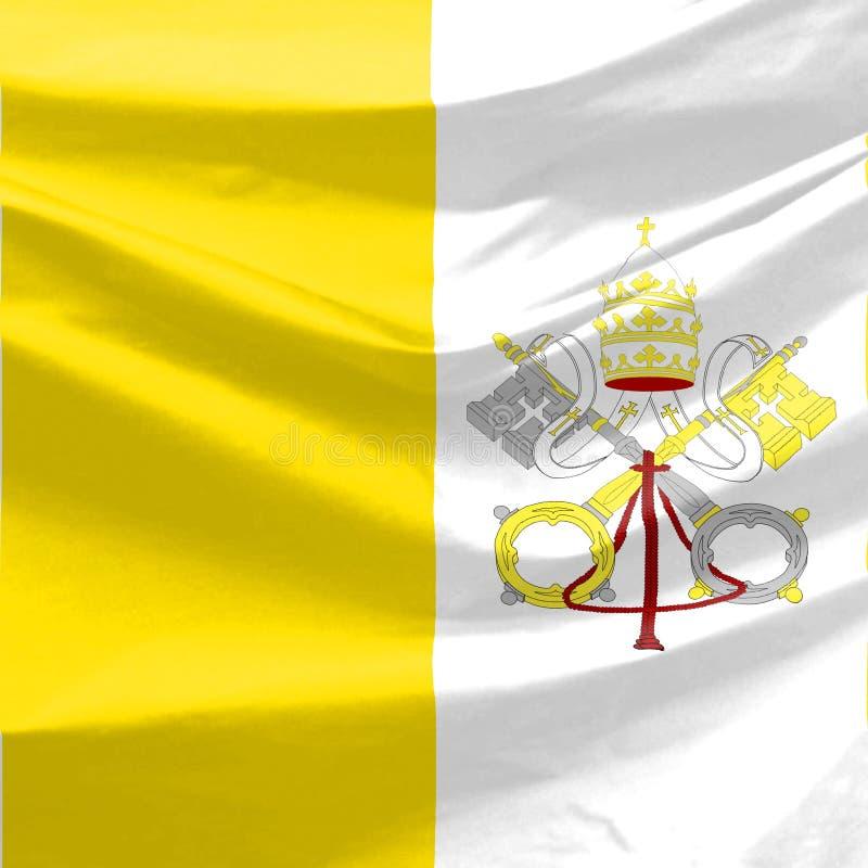 flaga Watykanu ilustracja wektor