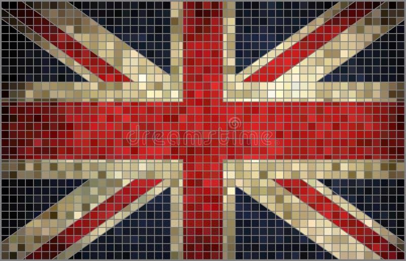 Flaga Wielki Brytania, mozaika royalty ilustracja