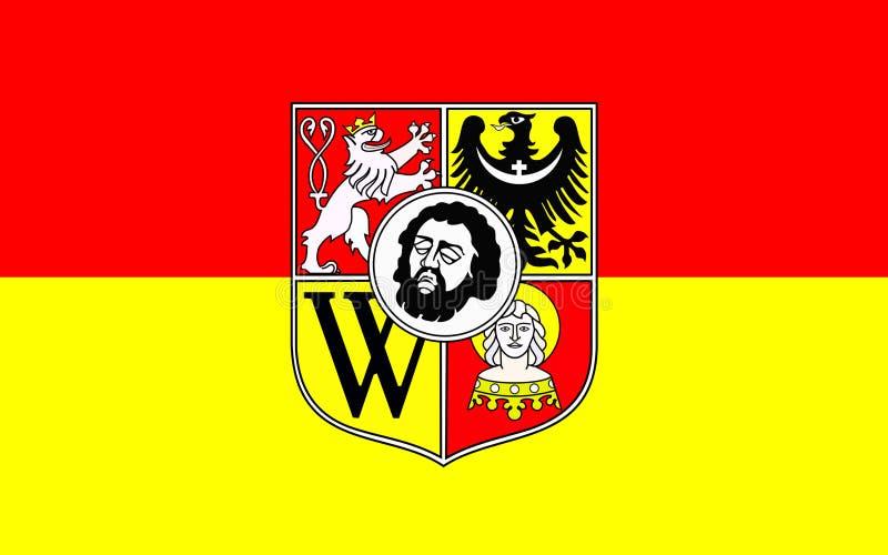 Flaga Wrocławski, Polska fotografia stock