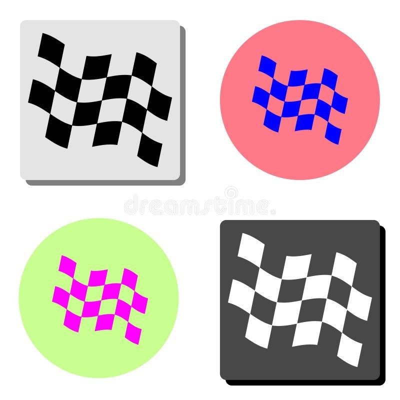 flaga wyścigi Płaska wektorowa ikona ilustracja wektor