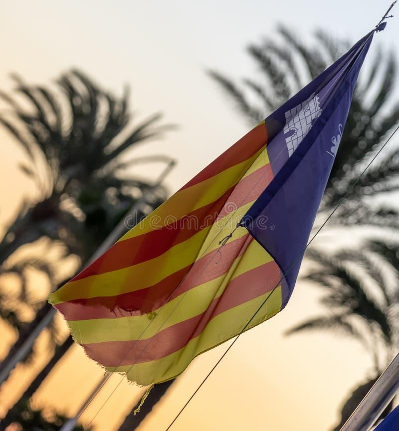 Flaga Wysp Balearskich obrazy royalty free