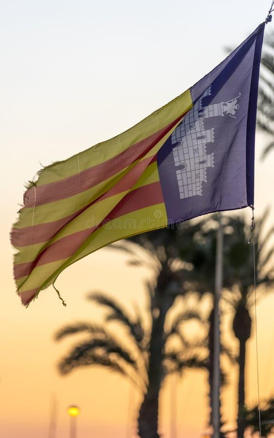 Flaga Wysp Balearskich zdjęcia royalty free