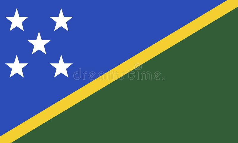 flaga wyspy salomona obrazy royalty free