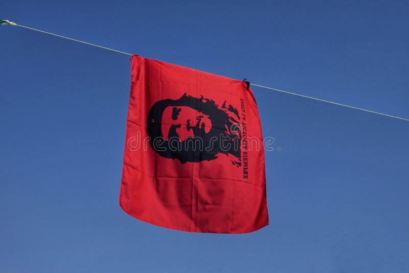 Flaga z Che Guevara fotografia stock